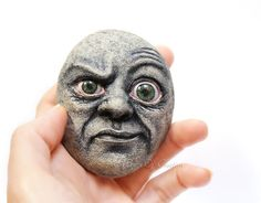 Bizarre original sculpture on stone One of a kind home decor