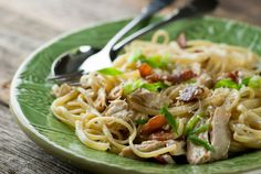 Chicken Pasta Carbonara - a new spin on an old fave!