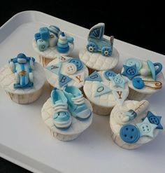 Cupcakes Take The Cake: Baby Boy Blue Shower Cupcakes