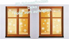 Wandtattoo 50 Schneeflocken Fensteraufkleber Sticker Winter Weihnachten Deko  | eBay