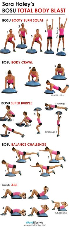 Sara Haley's BOSU Total Body Blast Workout - 5 fierce calorie-burning BOSU moves More