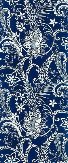 Blue and white paisley background pattern. Motifs Textiles, Textile Patterns, Textile Prints, Lino Prints, Block Prints, Batik Pattern, Paisley Pattern, Pattern Art, Paisley Design