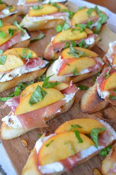 Crostini with Peaches, Ricotta, Prosciutto, Honey and Basil - From Scratch With Maria Provenzano