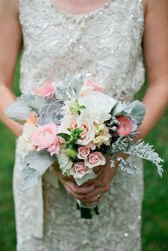 Romantic Pastel Bridesmaid Bouquet | Cedarwood Weddings https://www.theknot.com/marketplace/cedarwood-weddings-nashville-tn-223057 | Kristyn Hogan https://www.theknot.com/marketplace/kristyn-hogan-nashville-tn-449704
