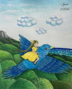 "27 Likes, 1 Comments - นรินทร์พร มุ่ยมา (@s_in_onederland) on Instagram: ""#Vivisökerenvän  #MariaTrolle  #Watercolor #Prismacolor #Posca"""