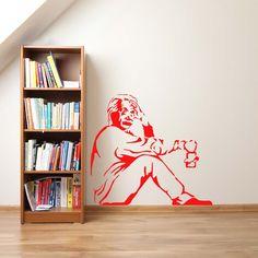 """Banksy """"Einstein"""" - autocolant de perete. Vă doriti un interior elegant? Autocolantul inovator si original de perete """"Banksy """"Einstein"""" """" va desăvârsi interiorul dvs. într-un mod neconventional. Încercati autocolante de perete, care sunt o metodă accesibilă si în acelasi timp foarte eficientă de a avea un interior diferit de ceilalti. Cu autocolantele noastre de perete, veti avea un design original al peretilor dvs. în câteva minute si veti crea un mediu confortabil în care vă veti simti… Banksy, Einstein, Bookcase, Alphonse Mucha, Shelves, Graffiti, Street Art, Design, Products"""