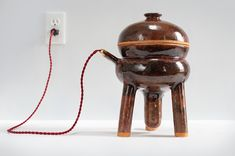 made with electrical circuits inside, when plugged into a power supply they emit an intense heat that can be used for cooking.