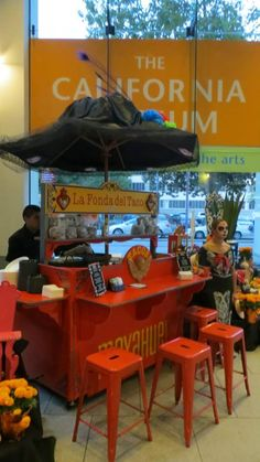 MAYAHUEL's taco cart decorated for Día de los Muertos at the Museum's Day of the Dead party on Oct. 25, 2013.