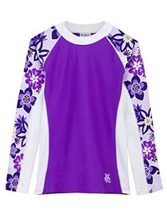 Keep your youngster protected from the sun's intensity courtesy of this colorful rashguard designed with four-way stretch that ensures playtime-spanning comfort. Girls Swim Shirts, Conservative Swimsuit, Baby Girl Swimwear, Girl Sleeves, Girls Swimming, Rash Guard, Toddler Girl, Baby Girls, Long Sleeve