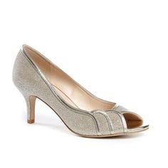 Pink by Paradox London Glitter 'chester' mid heel kitten heel peep toe shoes | Debenhams