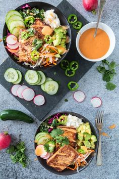 Banh Mi Bowl without the Banh Mi: it's a sandwich in a bowl!   vegetarian and easily made gluten free