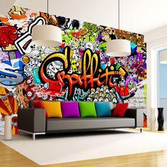 Tapeten - Fototapete 400x280 Graffiti f-A-0348-a-b - ein Designerstück von design4art bei DaWanda