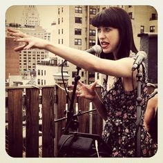 We're shooting the lovely @KimbraMusic on the roof for Tastemakers @Cottonfashion #kimbra #tastemakers