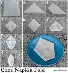 Paper napkins are folding instructions - creating a festive table decoration paper napkins fold instruction swan Source by hannahgansefort Fancy Napkin Folding, Bunny Napkin Fold, Folding Paper Napkins, Linen Napkins, Cloth Napkins, Origami Easy, Origami Envelope, Wedding Napkins, Table Decorations