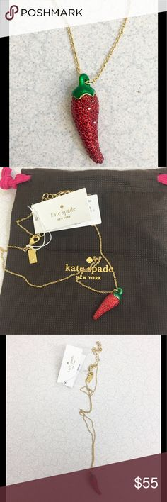 Hot NWT kate spade ♠️ chili 🌶 pepper pendant! Hot NWT kate spade ♠️ chili 🌶 pepper pendant! kate spade Jewelry Necklaces