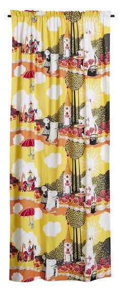Ruusumuumi-sivuverho - Finlayson verkkokauppa Kids Room, Curtains, Shower, Prints, Art, Rain Shower Heads, Art Background, Blinds, Kidsroom