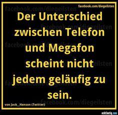 Unterschied zwischen Telefon und Megafon