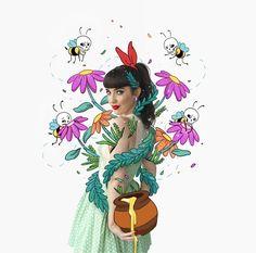 lauren carney: Art Vs Real Life : The Next Chapter Foto Doodle, Doodle On Photo, Doodle Art, Photography Illustration, Photo Illustration, Graphic Illustration, Illustrations, Graphic Design Posters, Graphic Design Inspiration