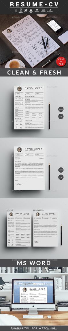 Landscape Resume\/CV Resume cv, Cv template and Template - microsoft resume and cv templates
