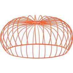 Fluorescent Orange Wire Lampshade