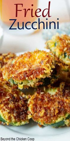 Make your favorite restaurant fried zucchini right in your own home. This delicious appetizer is pan fried and made with panko bread crumbs and Parmesan cheese. # Food and Drink vegetarian Fried Zucchini - Beyond The Chicken Coop Fried Zucchini Recipes, Zucchini Fries, Vegetable Recipes, Zucchini Parmesan, Chickpea Recipes, Lentil Recipes, Jalapeno Poppers, Cilantro Lime Slaw, Yummy Appetizers