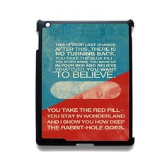 The Matrix Pil Blue And Red TATUM-10920 Apple Phonecase Cover For Ipad 2/3/4, Ipad Mini 2/3/4, Ipad Air, Ipad Air 2