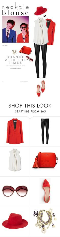 """devil"" by iriadna ❤ liked on Polyvore featuring Givenchy, Yves Saint Laurent, Vince Camuto, Anya Hindmarch, Oliver Peoples, J.Crew, rag & bone, Chanel, Kattri and flats"