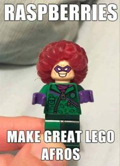 Raspberries = Lego Afros