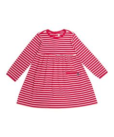 Red & Cream Stripe A-Line Dress - Infant, Toddler & Girls | Daily deals for moms, babies and kids