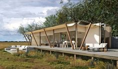 Opening April King Lewanika Lodge is a brand new luxury lodge in Zambia's remote Liuwa Plain National Park. Camping Places, Camping Glamping, Luxury Camping, Luxury Travel, Cabana, Ideas Cabaña, Safari, Tent Living, Cabin Tent