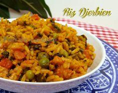 Asalam Alaykom, Voilà un plat parfait, complet par excellence, le riz djerbien ou rouz jerbi un plat tunisien cuit à la vapeur, très très simple à préparer et trop bon !! Ingrédients: 2 verres de r…
