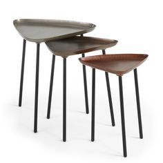 Buy Set Iver of 3 nesting tables at the best price on Kave Home and enjoy the best designer furniture for your home