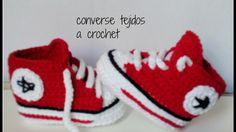 como hacer unos converse tejidos a crochet para bebe