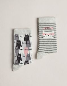 Pack of cat print socks Oysho (here's looking at you Amanda & Emily!)
