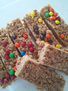 Simply Homemade: Simply No Bake Chewy Granola Bars 1/4 c unsalted butter  1/4 c brown sugar  1/4 c honey  1/4 c creamy peanut butter  1 tsp vanilla extract  2 cups oats, I use old fashioned oats, but the recipe calls for quick oats  1/2 c crispy rice cereal