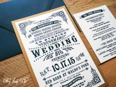 The perfect wedding invitation for a 1920s vintage circus themed wedding with a touch of glamour....for example, like the movie, Water For Elephants! This era is reminiscent in reference to two great drama/romance movies, The Great Gatsby and The Notebook. Designed by My Lady Dye. Shop at www.MyLadyDye.com