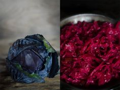 Jalapeno Garlic Sauerkraut: a super EASY ferment you can make at home using just red cabbage, garlic, jalapenos and salt.  Let it sit on you...