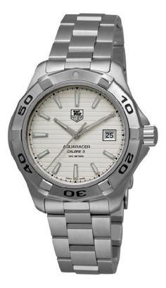 TAG Heuer Men's WAP2011.BA0830 Aquaracer Calibre 5 Silver Guilloche Dial Watch by TAG Heuer @ TAG-Heuer-Watches .com