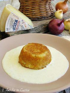 Tortino di Patate e Cipolle con Fonduta di Pecorino di Norcia