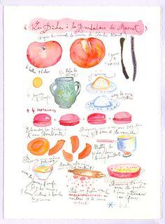 The peach dessert recipe of Claude Monet  by lucileskitchen, $68.00