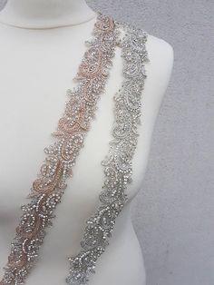 Rose gold bridal belt Rose gold belt rose gold sash luxury