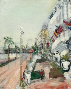 Varlin (Swiss, 1900-1977), The Promenade des Anglais in Nice, 1938. Oil on canvas on metal panel, 35.5 x 28.5 cm.