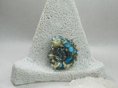 Lampwork focal bead, nautilus bead, sra artist, ammonite bead, murano ammonite, murano glass, venetian glass, handmade, jewelry supplies by ArtandSoulStudios on Etsy
