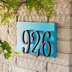 20 Modern And Creative DIY House Number Projects