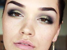 Olive Green Smokey eyes