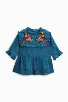 Buy Teal Embroidered Blouse (3-16yrs) online today at Next: Slovakia