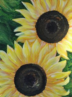 "Sunflower Art - ""Soleil"" - Painting by Lorraine Skala - Please visit my Etsy Shop to purchase prints or notecards"