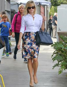 Classic styling with floral pencil skirt