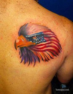 patriotic tattoos | Patriotic Eagle Tattoos
