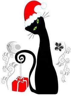Christmas, Black cat